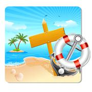 Holiday on Beach Stock Illustration
