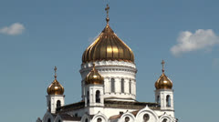 Cathedral of Christ the Saviour in Moscow, Russia. Stock Footage