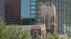 first united methodist church, dallas, texas, usa - stock footage