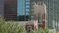Stock Video Footage of first united methodist church, dallas, texas, usa