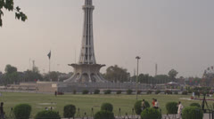 Minar e Pakistan landmark of Lahore and Pakistan - stock footage