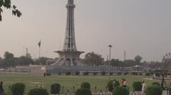 Minar e Pakistan landmark of Lahore and Pakistan Stock Footage