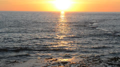 Sunset over the Atlantic Ocean Stock Footage