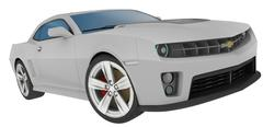 Photoshop 3D Render 2012 Chevy Camaro - stock illustration