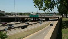 Traffic moves along freeway 30, dallas, texas, usa Stock Footage