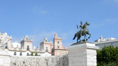Monument to the Constitution of Cadiz in 1812 Stock Footage
