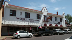 fort worth stock yards, fincher's store, texas, usa - stock footage
