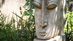 Mysterious Garden Statue 3 Stock Footage