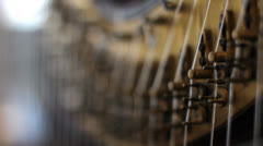Pedal Harp Focus Shift 1 Stock Footage