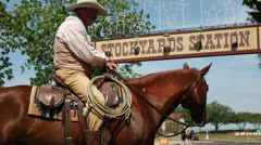 Cowboy, fort worth stockyards, texas, usa Stock Footage