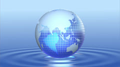 Blue globe. Stock Footage