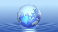Stock Video Footage of Blue globe.