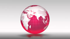 Red globe. Stock Footage