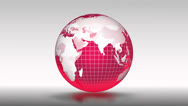 Stock Video Footage of Red globe.