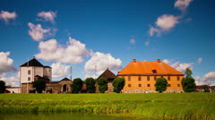 Old castle, Nykoping, time-lapse - stock footage