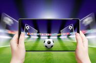 Soccer online, sports game Stock Illustration