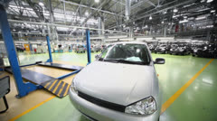 Lada Kalina at factory VAZ in Togliatti. Stock Footage
