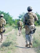 Military patrol Stock Photos