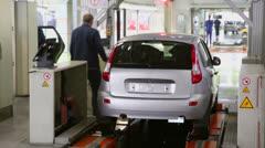 Test of new Lada Kalina on factory VAZ . Stock Footage