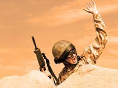 Commando in action Stock Photos