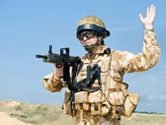 British Royal Commando Stock Photos