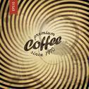 Coffee grunge retro background. vector, eps10 Stock Illustration
