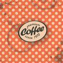 Stock Illustration of coffee themed retro background, vector. eps10