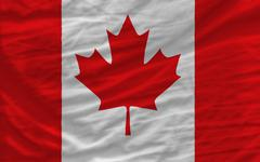 Complete waved national flag of canada  for background Stock Photos
