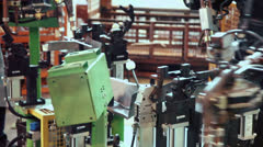 Worker makes car components by machine tool, closeup Stock Footage