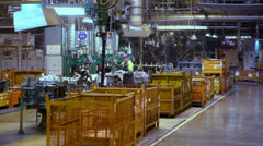 Man work with machine tool in factory workshop Stock Footage