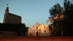 People Outside of The Alamo in San Antonio Texas HD Video Stock Footage
