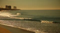 Waves Crash On To Tijuana Beach HD Video Stock Footage