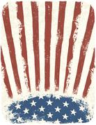 Stock Illustration of american patriotic poster background. vintage style poster template, vector,