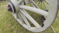 Civil War Era Scenes #3  (Cannon Closeup) Stock Footage