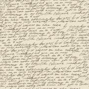 Abstract handwriting on old vintage paper. seamless pattern, vector, eps10. Stock Illustration