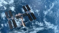 Space Station 4 - stock footage