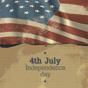 independence day vintage poster design. vector, eps10 - stock illustration