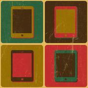 Smart phone poster, pop-art styled, vector Stock Illustration