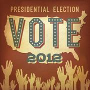 presidential election 2012. retro poster design, vector, eps 10. - stock illustration
