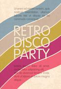 retro disco party. abstract flyer design template, vector, eps10 - stock illustration
