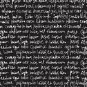 Stock Illustration of abstract expressive handwriting on black background. seamless pattern, vector