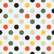 Stock Illustration of seamless variegated polka dot pattern. vector, eps10