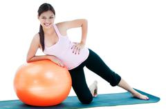 Cute young woman workout - stock photo
