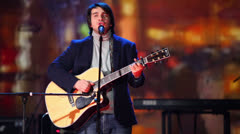 Singer Peter Nalitch performs on stage at Taganka Theater Stock Footage