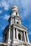 Belfry of the assumption cathedral in kharkiv, ukraine Stock Photos