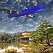 Let us travel to Japan - stock illustration