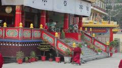 Buddhist monastery stage  Stock Footage
