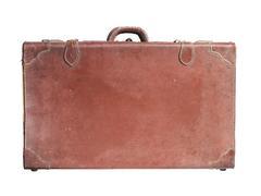 Stock Photo of vintage leather luggage
