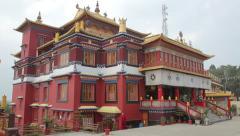 Buddhist Monastery Stock Footage