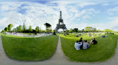 Eiffel-torni 360 video panorama UHD 4K Arkistovideo
